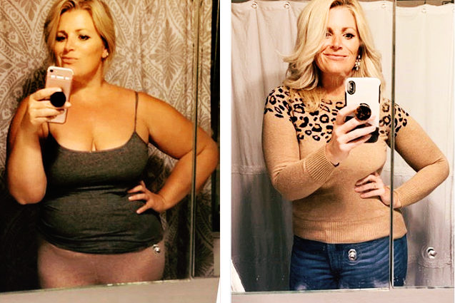 15-pound weight loss before and after