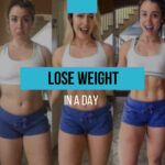 Is it possible to lose weight in a day and how to do it